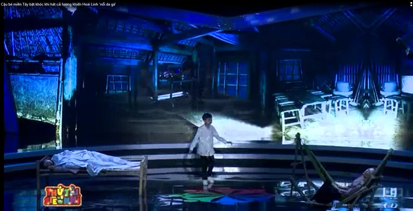 Cậu bé miền Tây bật khóc khi hát cải lương khiến khán giả xúc động
