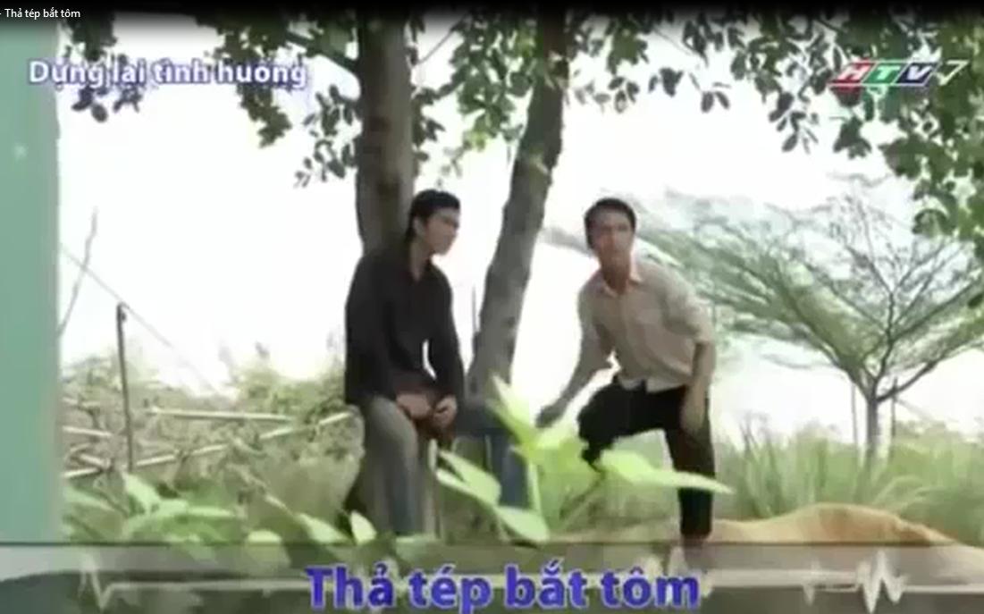 Thả tép bắt tôm