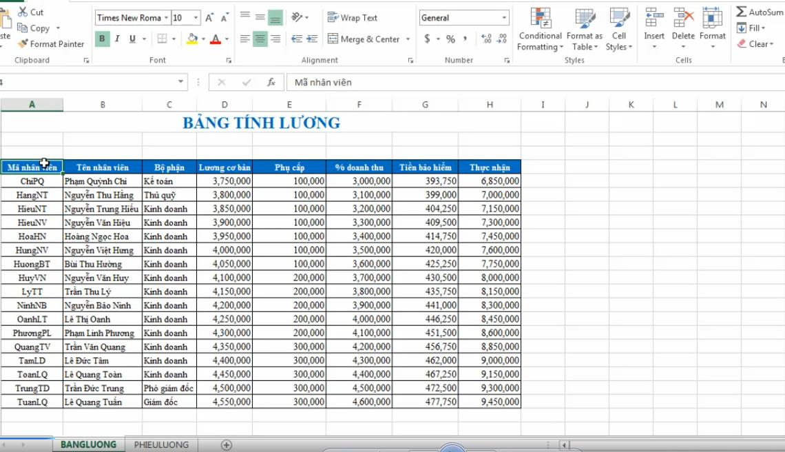 Hướng dẫn lập phiếu lương và in phiếu lương tự động trên Excel bằng add-In ATools